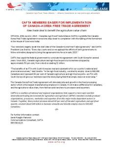 CKFTA News Release FINAL